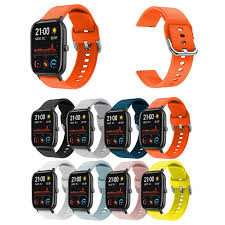 Colorful 20mm Silicone <b>Strap</b> For Huami amazfit GTS 20mm <b>Strap</b> ...