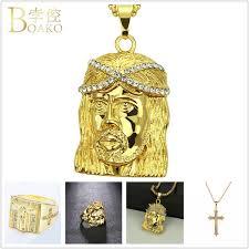 Wholesale <b>BOAKO Cross</b> Jesus Pendant <b>Necklace</b> Men/Women ...