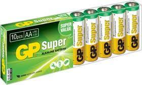 <b>Батарейка GP Super Alkaline</b> АА (LR6) 10 шт. (15А-B10)   купить в ...