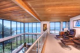 home office offers spectacular views of the rugged coastline and the pacific design decker amazing home offices