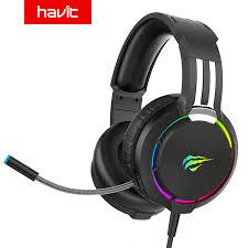Havit <b>Professional Gaming Headset Wired</b> RGB Light HD ...