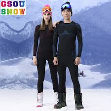 GSOU <b>SNOW Brand Ski</b> Underwear <b>Women</b> Men Long Johns <b>Skiing</b> ...