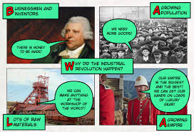 industrial revolution lessons teach causes of the industrial revolution comic strip jivespin