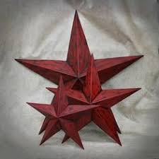 metal star wall decor: metal star wall decor set of  red