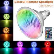 PAR38/PAR30 <b>RGB LED 20W</b> Spot Light <b>E27</b> Bulb Lamp Remote ...