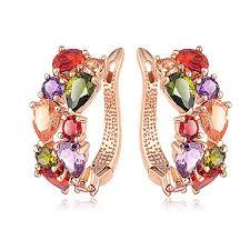 Women's AAA Cubic Zirconia Earrings Tropical Music Notes Stylish ...