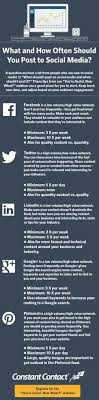 images about career on pinterest   public relations  resume    what and how often should you post to social media   infographic