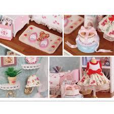 miniature dollhouse furniture diy minatura wooden doll house handmade model building kits birthday gift happy building doll furniture