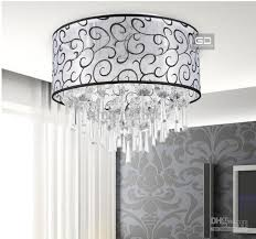 warm bedroom lamps beautiful auspicious clouds round yarn fabric ceiling lighting crystal lamps specificationd400mm h360mm cheap bedroom lighting