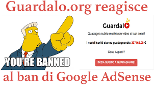 guardalo reagisce ban adsense jpg