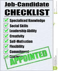 illustration of a job candidate checklist stock photography illustration of a job candidate checklist