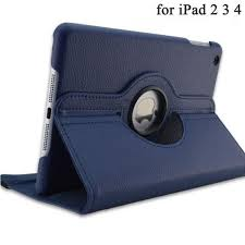 360 Degrees Rotating <b>PU Leather</b> Flip <b>Cover Case</b> for iPad 2 3 4 ...