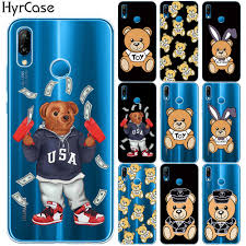 Cute Luxury Brand Bear <b>Soft TPU</b> Case Cover For <b>Coque Huawei</b> ...