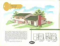 Terrific curb appeal ideas from Swift Homes house plans    mid century modern split level ranch house
