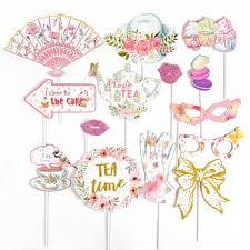 <b>Tea Party Photo Booth</b> Props Decorations Floral Printable Tea Pot ...