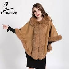 Best quality <b>FURSARCAR Winter Real</b> Fur Coat Cashmere Cape ...