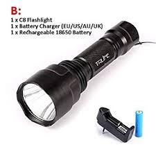 <b>C8 Hunting Flashlight LED</b> Linterna L2 T6 10000LM Aluminum ...