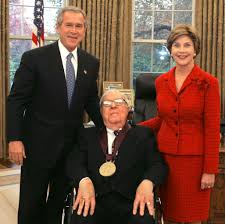 in the novel fahrenheit 451 by ray bradbury montag who writework bradbury receiving the national medal of arts award in 2004 then president george w