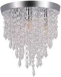 3 <b>Lights</b> Flush Mount Ceiling <b>Light</b>, Crystal <b>Chandelier Lighting G9</b> ...