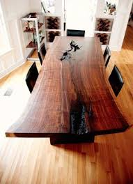 wood slab dining table beautiful: beautiful wood dining table could match the kitchen