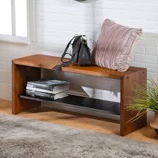 Loon Peak® Arocho <b>Solid</b> Wood Shelves <b>Storage Bench</b> & Reviews ...