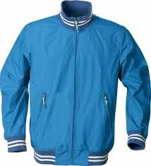 <b>Ветровка унисекс GARLAND</b>, голубая с логотипом