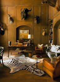 Classic Traditional Home Office With Rug Animal Print Accents Image 4 Of 12