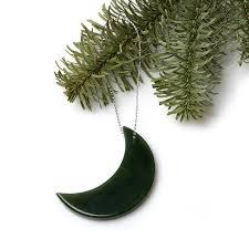Купить <b>Елочная игрушка нефрит</b> зеленый Россия полумесяц 5 см ...
