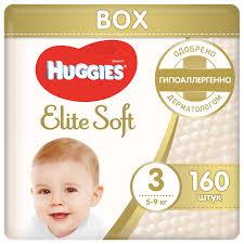 <b>Huggies подгузники Elite</b> Soft 3 (5-9 кг) 160 шт. — купить по ...