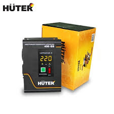Single phase voltage stabilizer <b>Huter 400GS</b> Relay type Voltage ...