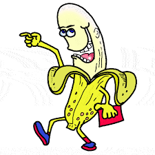 A walking banana
