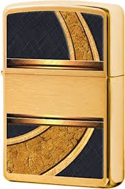 28673 <b>Зажигалка Zippo Gold</b> and Black, Brushed Brass