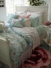 bedroomcharming classic chic girl bedroom with soft grey boudoir pillows white ivory duvet comforter blue shabby chic bedding