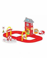 <b>Игровой набор DOLU</b> пожарная станция с круговой дорогой ...