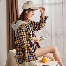 <b>2019 2019</b> Autumn <b>New Plaid Shirt</b> Women Loose Korean Version ...