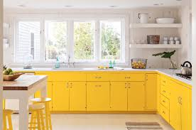 blue kitchen cabinets small painting color ideas:  yellow kitchen cabinet