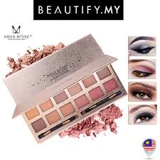 <b>MISS ROSE 12 Colours Eye</b> Shadow Palette
