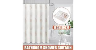 1.8M <b>Bathroom Shower Curtain Waterproof</b> Mildewproof Fabric + ...