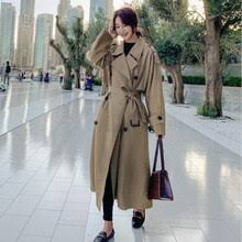 Шикарный плащ-<b>Тренч</b>, женское длинное <b>пальто</b>-ветровка цвета ...