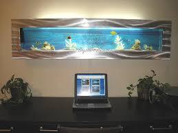 extra large panoramic wall aquarium in a home office aquarium office