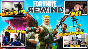 Streamers React to The Fortnite Rewind - YouTube