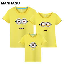 Brand 1piece Family Matching Outfits Minions T Shirts ... - Qoo10