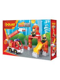 "<b>Конструктор Бауер</b> ""<b>Fireman</b>"" набор <b>пожарная</b> машина и ..."