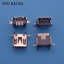 <b>5Pcs Mini USB</b> Female 5 Pin Type B DIP Socket Connector 180 ...