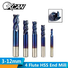 XCAN <b>1pc</b> 2 13mm Super <b>Blue</b> Nano Coated HSS End Mills Straight ...