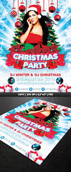 christmas party flyer template on behance