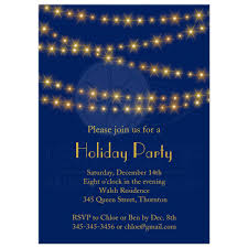 holiday party invitation gold twinkle lights on navy blue sparkling gold lights on navy blue holiday party invitations