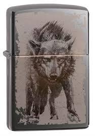 <b>Зажигалка Zippo Wolf Design</b> с покрытием Black Ice® 49073 на ...