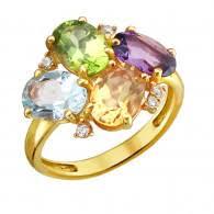 Золотое <b>кольцо с хризолитом</b> - купить кольца из золота в Москве ...