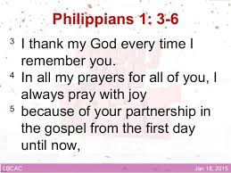 Image result for philippians 1:3-6